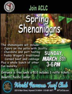 Poster for Spring Shenanigans Event
